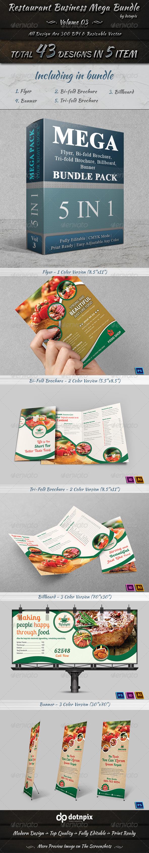 GraphicRiver Restaurant Business Mega Bundle Volume 3 7673548