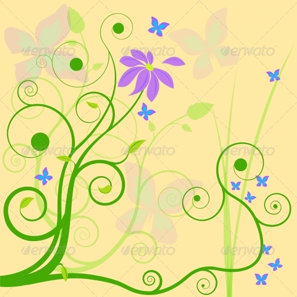 GraphicRiver Floral Background 7673628