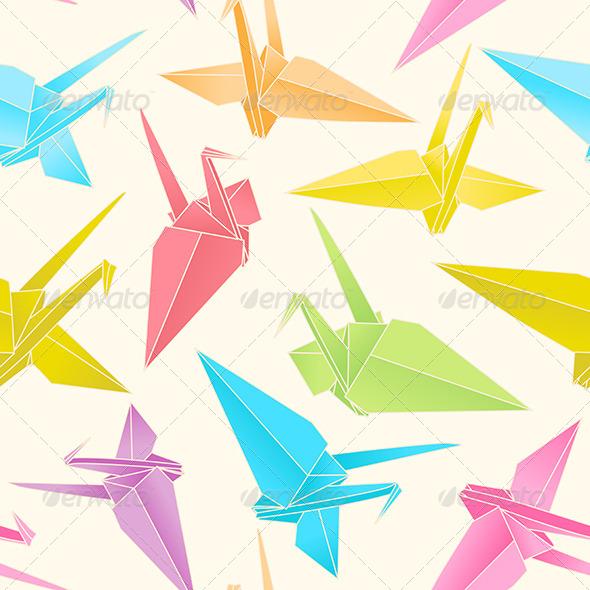 GraphicRiver Origami Cranes 7673819