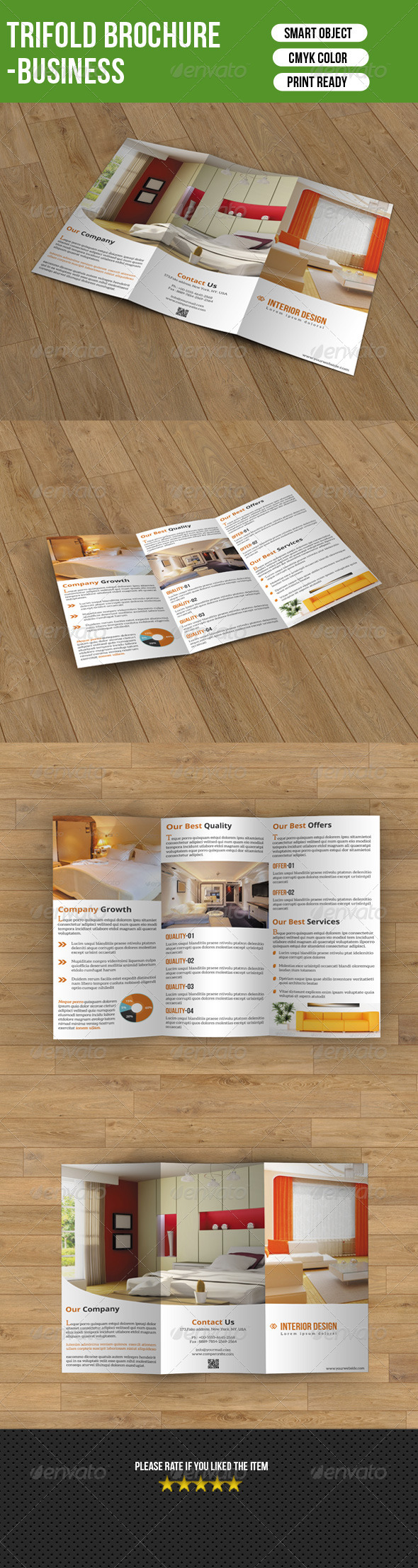 GraphicRiver Trifold Brochure-Interior Design 7655663