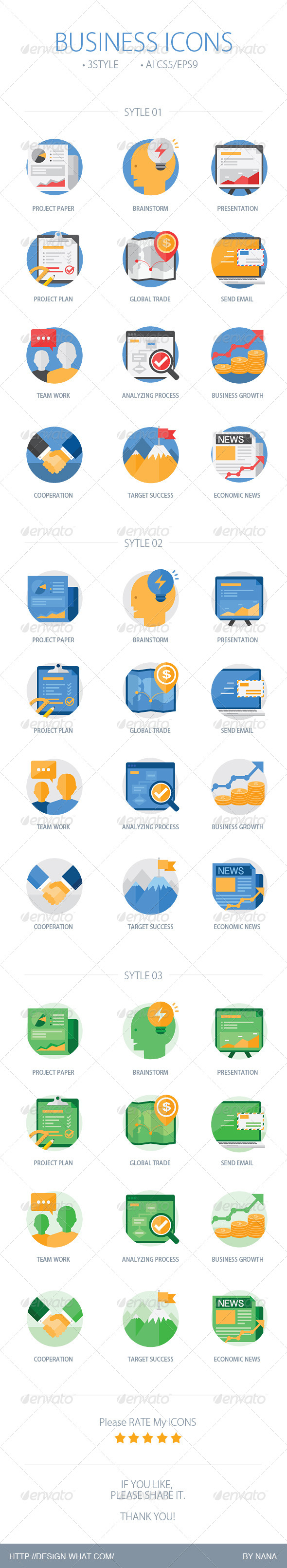 GraphicRiver Business Icons 7674013