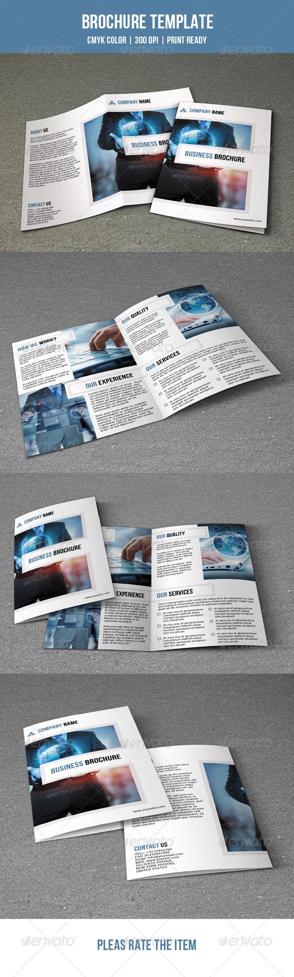 GraphicRiver Bifold Business Brochure 7674340