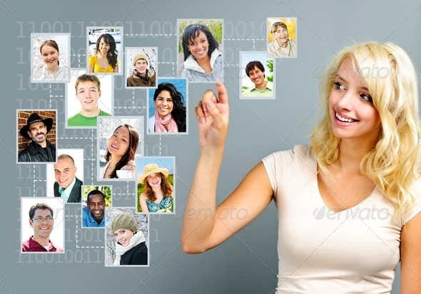 Social networking - Stock Photo - Images