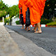Buddhist Monks on a Morning Alms Round - VideoHive Item for Sale