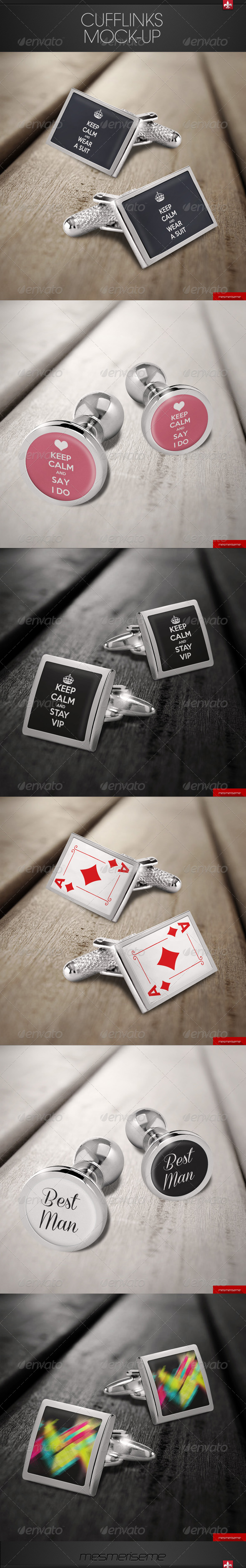 GraphicRiver Cufflinks Mock-up 7674734