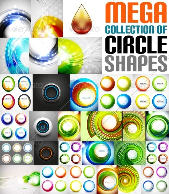GraphicRiver Collection of Circle Shaped Compositions 7675134