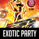 Exotic Party Flyer - GraphicRiver Item for Sale
