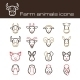 Farm Animals Icons - GraphicRiver Item for Sale