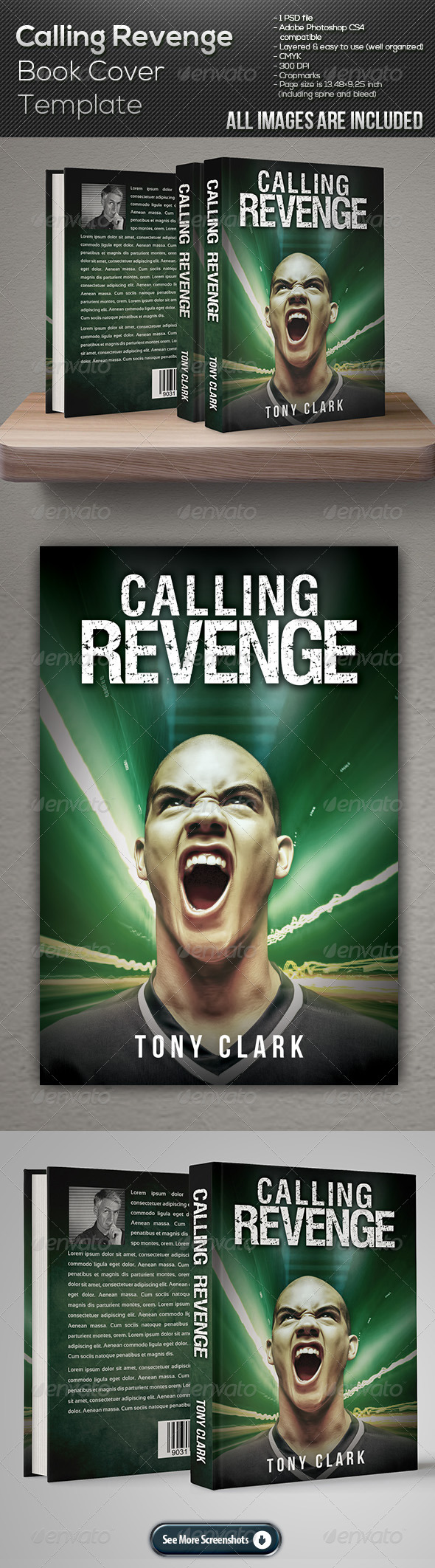 GraphicRiver Calling Revenge Book Cover Template 7675499