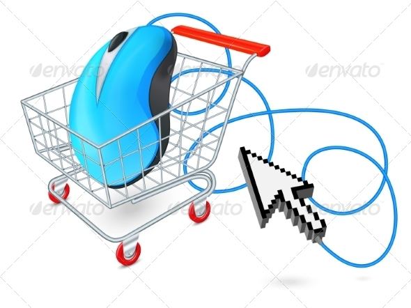 GraphicRiver Internet Shopping Cart Concept 7675528
