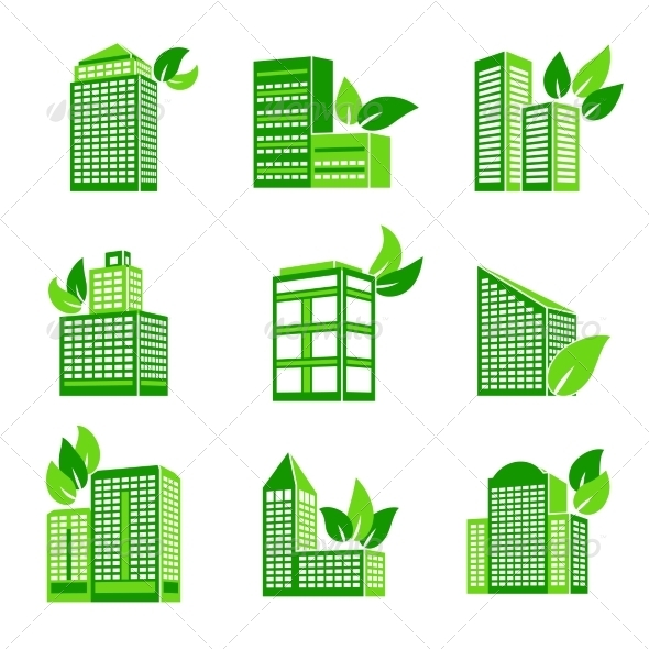 GraphicRiver Building Eco Icon 7675538
