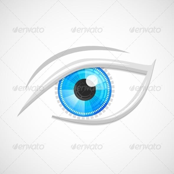 GraphicRiver High Tech Eye Icon 7675635