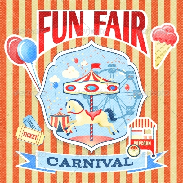 GraphicRiver Vintage Carnival Poster Template 7675696
