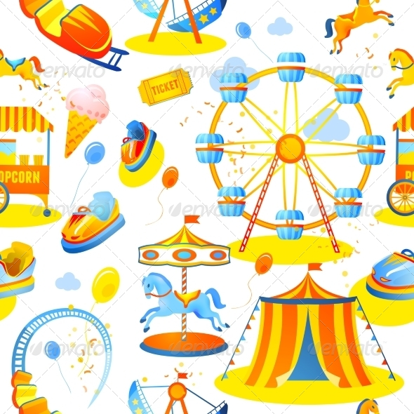 GraphicRiver Amusement Park Seamless Pattern 7675707