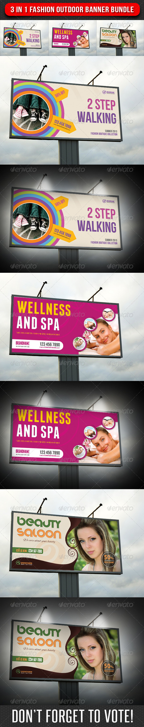 GraphicRiver 3 in 1 Fashion Outdoor Banner Bundle 04 7675845