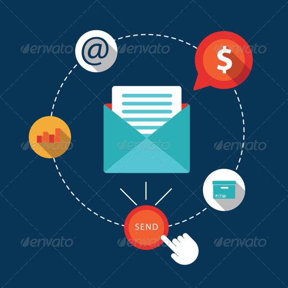 GraphicRiver Flat Icons Email Marketing 7676431