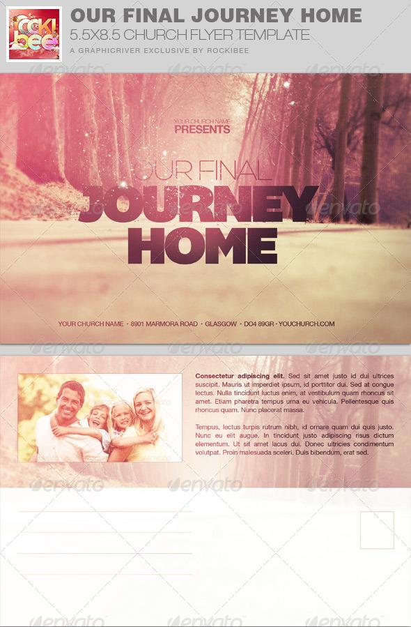 GraphicRiver Final Journey Home Church Flyer Invite Template 7676573