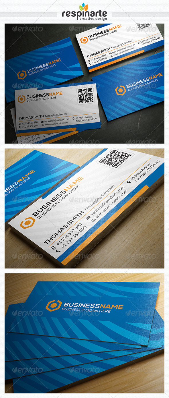GraphicRiver Corporate Business Card RA17 7678333