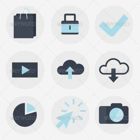GraphicRiver Modern Flat Icons Collection 7678574