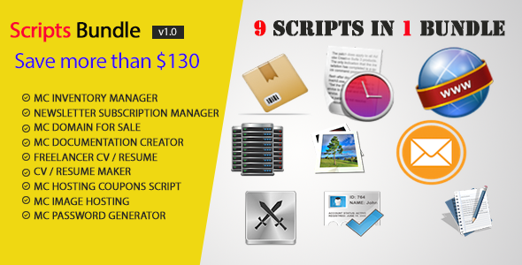 CodeCanyon MC PHP Scripts Bundle 9 in 1 7678632