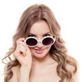 Fashion Woman With Sunglasses. Isolated - PhotoDune Item for Sale
