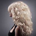 Beautiful Blond Woman. Curly Long Hair - PhotoDune Item for Sale