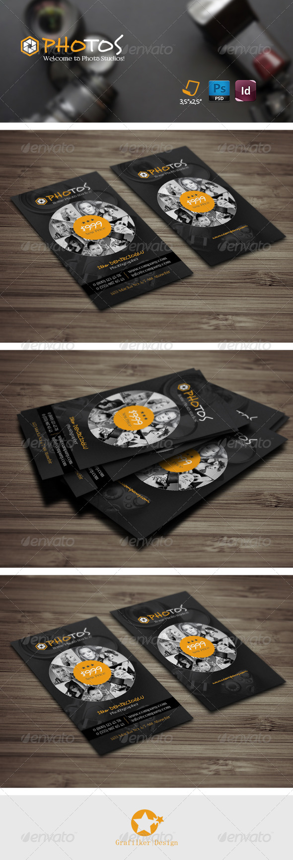 GraphicRiver Photography Business Card Templates 7679467