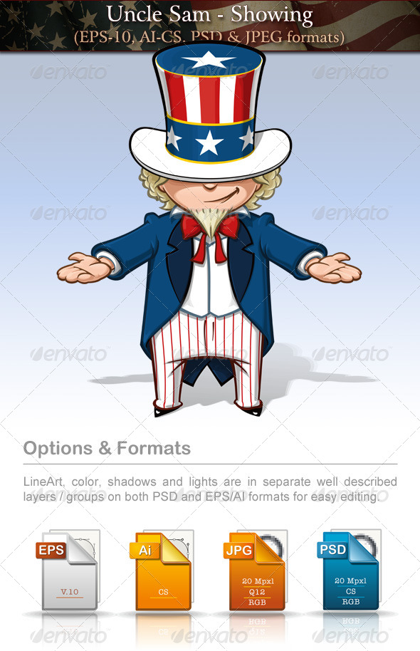 GraphicRiver Uncle Sam Showing 7680022