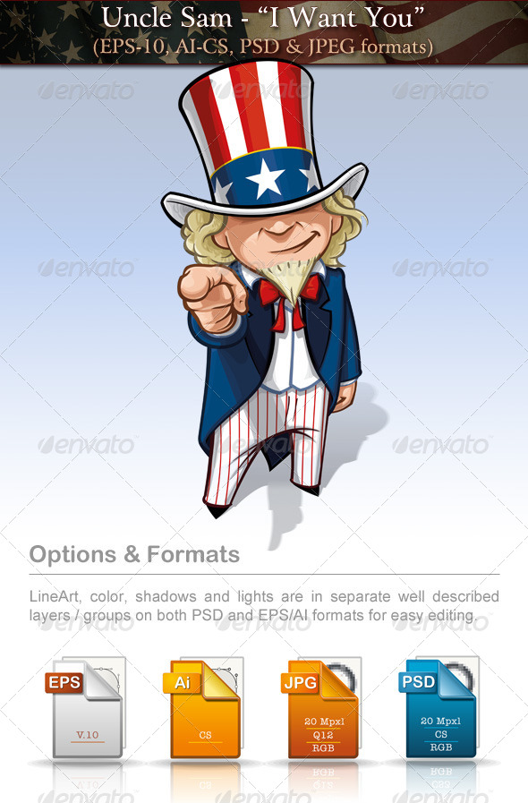 GraphicRiver Uncle Sam I Want You 7680079