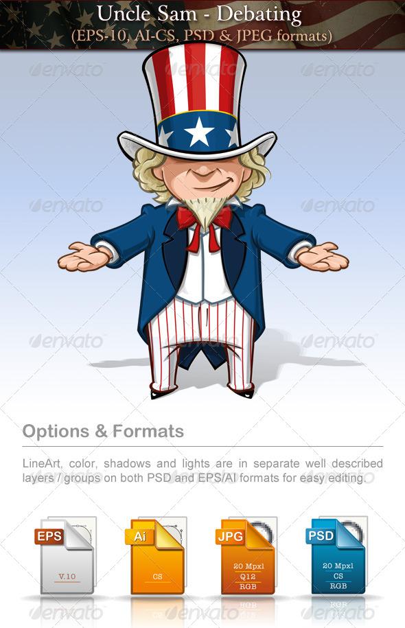 GraphicRiver Uncle Sam Debating 7680281