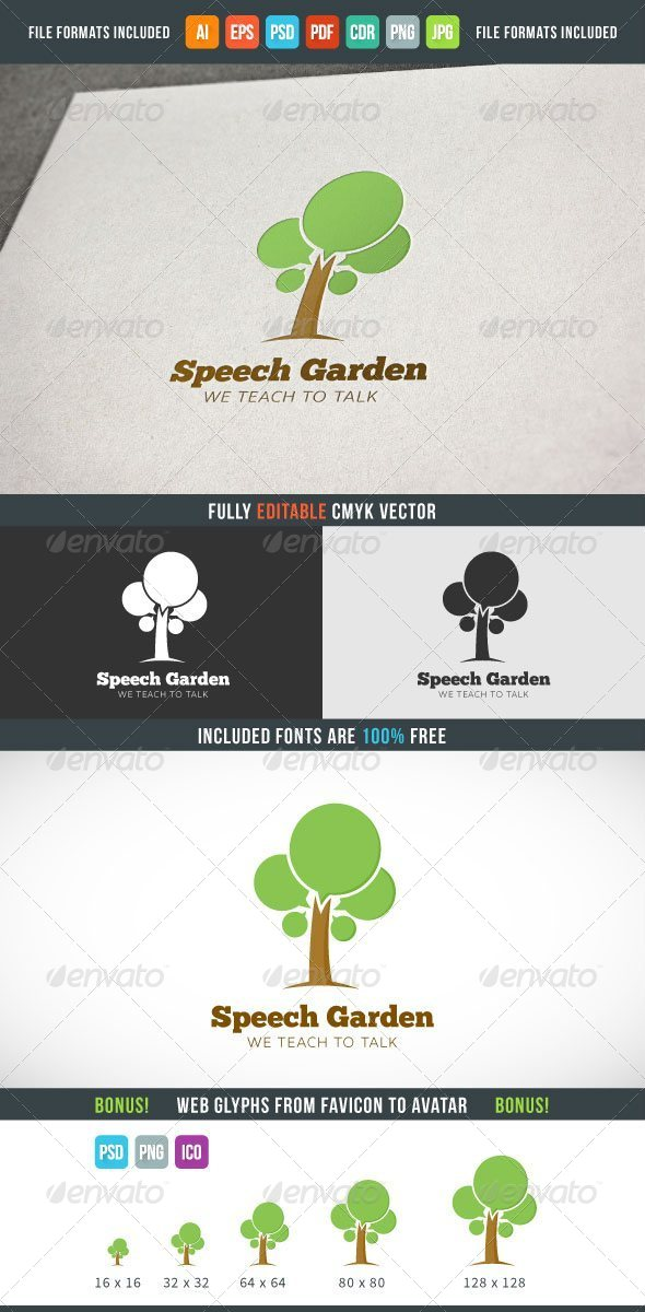 GraphicRiver Speech Garden Gogo Gemplate 7614994