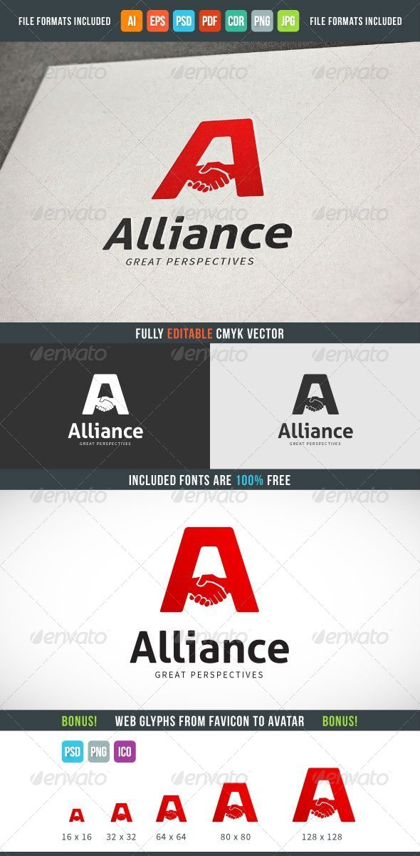GraphicRiver Alliance Logo Template 7614902