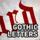 Gothic Letters Brushes - GraphicRiver Item for Sale