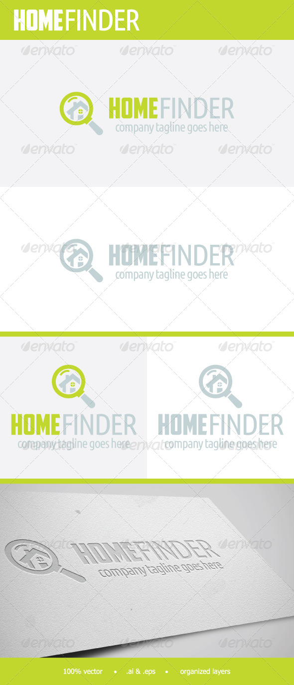 GraphicRiver HomeFinder Logo 7681661