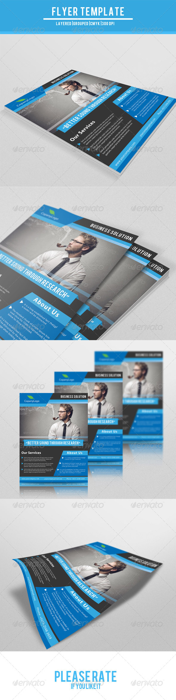 GraphicRiver Corporate Flyer Template 7682344