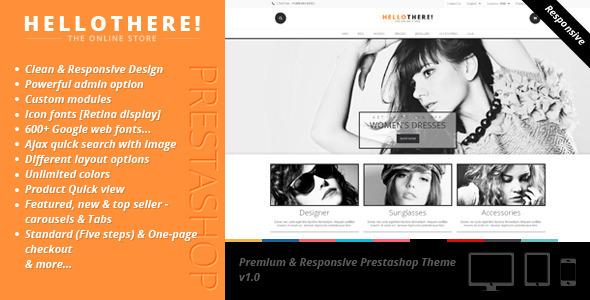ThemeForest Hello There Premium & Responsive Prestashop Theme 7683484