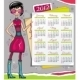 2012 calendar with fashion girl - GraphicRiver Item for Sale