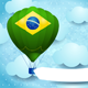 Hot Air Balloon with Brazilian Colors and Banner - GraphicRiver Item for Sale