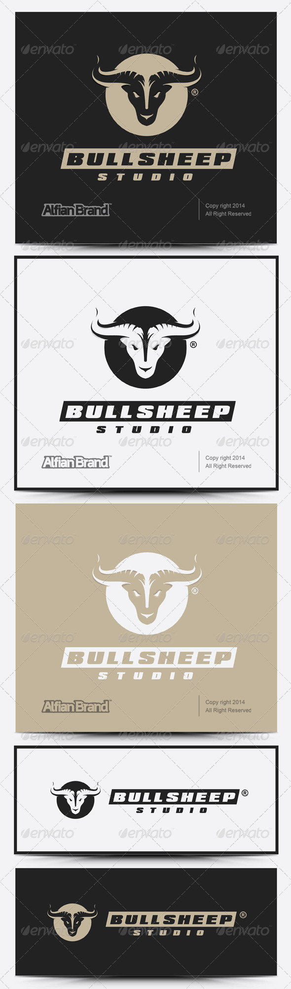 GraphicRiver Bull Sheep Logo 7636523