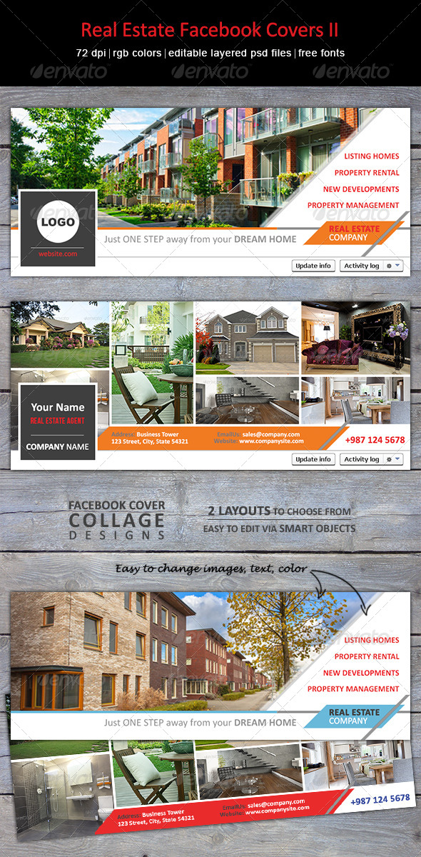 GraphicRiver Real Estate Facebook Covers II 7684560