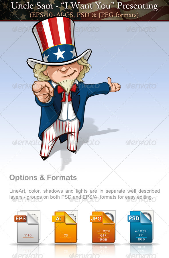 GraphicRiver Uncle Sam I Want You Presenting 7684665