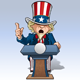 Uncle Sam - Presidential Podium Grave - GraphicRiver Item for Sale