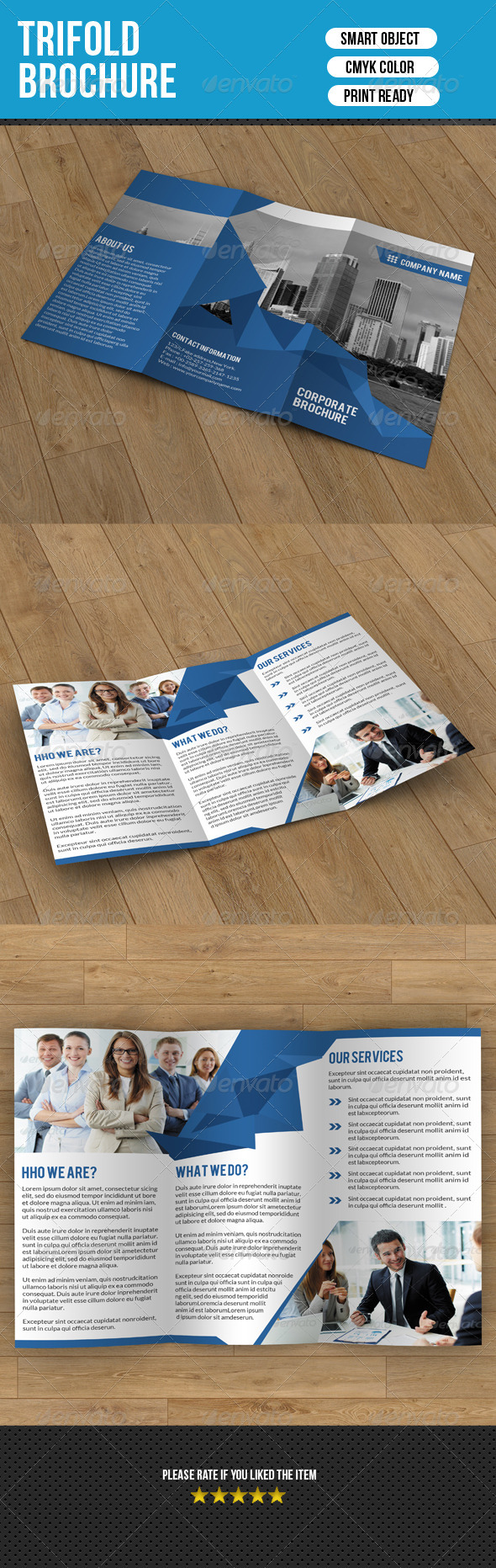 GraphicRiver Trifold Brochure-Business 7684853