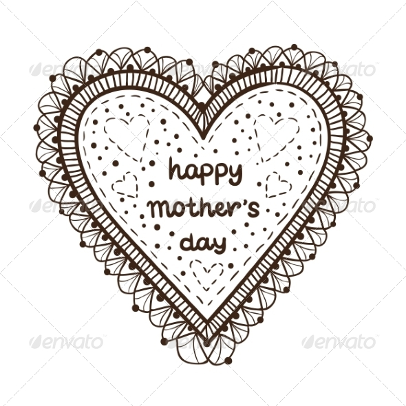 GraphicRiver Happy Mother Day Card Concept 7685069