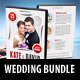 4 in 1 Wedding DVD Cover Templates Bundle - GraphicRiver Item for Sale