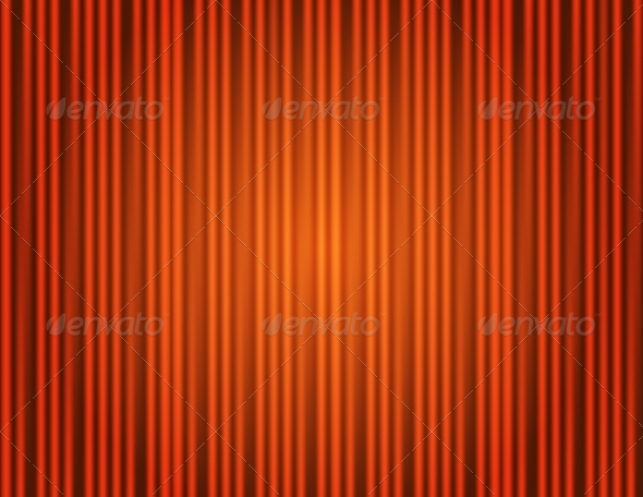 GraphicRiver Red Curtain Closed 7687063