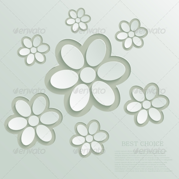 GraphicRiver Modern Flowers Background 7687666