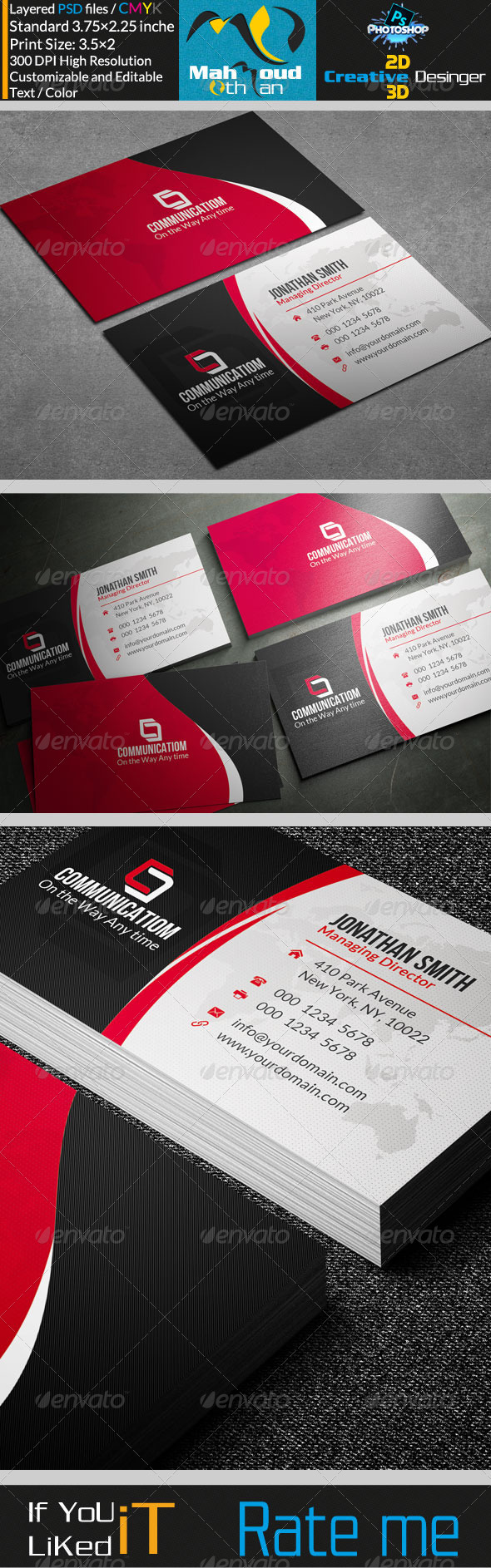 GraphicRiver Creative Corporate Business Card V26 7688005