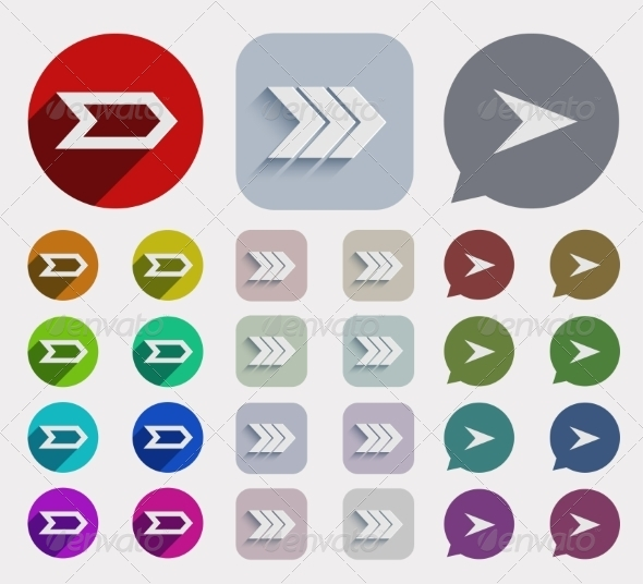 GraphicRiver Vector Flat Arrows Icons Set 7688014