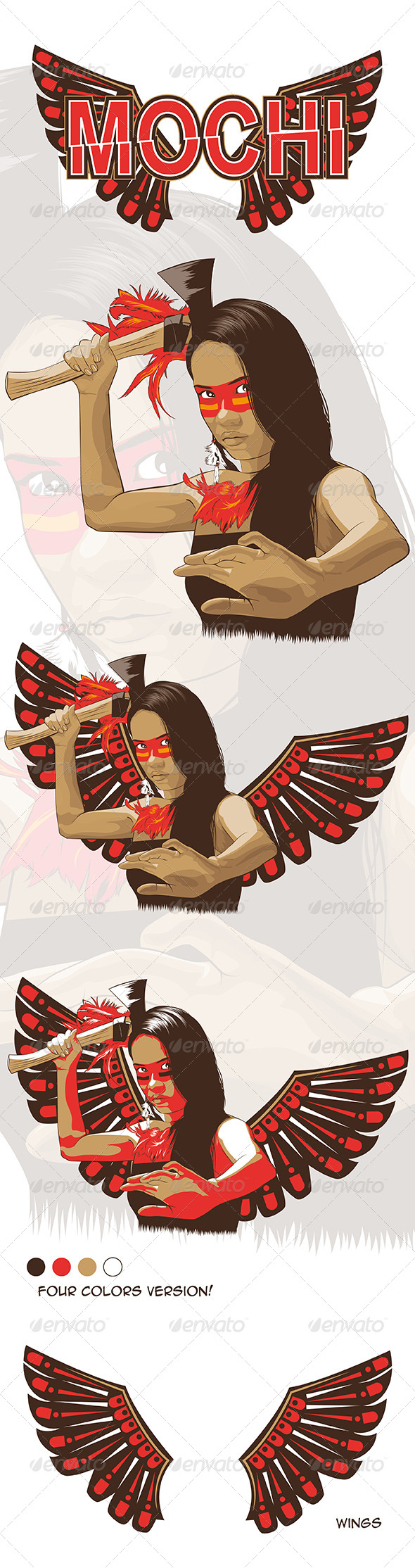 GraphicRiver Native American Indian Girl Vector 7688224